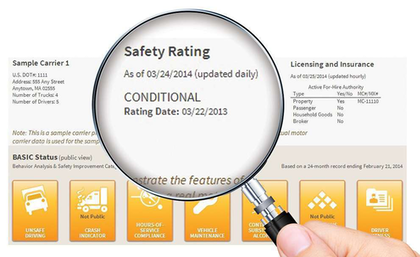 "Public scrutiny of safety ratings in CSA SMS still uncertain Today, while a carrier's Compliance, Safety, Accountability Safety Measurement System profile front page shows its investigation history, it does not list any safety rating information from the SafeStat system. Following recommendations from industry stakeholders in 2013, the Federal Motor Carrier Safety Administration introduced a proposed revamp of the online display that, front and center of a carrier's front page, includes that carrier's current safety rating. During the February 2013 meeting of FMCSA's Motor Carrier Safety Advisory Committee, Associate Administrator for Enforcement Bill Quade said changes he described as ""just tweaks here or there"" could be implemented as early as May 2013. As of press time, however, the change had not been made.  Among those no doubt to be unhappy with the display changes is Rick Gobbell, formerly of FMCSA's Tennessee division and currently a regulatory consultant to industry operating near Nashville, Tenn. In his prior role as the National Association of Small Trucking Companies' vice president of safety and compliance, Gobbell submitted comments to the federal docket on the display changes that excoriated the agency over its public display of CSA scoring metrics. Gobbell argued the bell-curve nature of the SMS BASIC scores ""demonizes … 35 percent of carriers all the time,"" thus providing convenient statistical justification for FMCSA budget requests.  ""It challenges our faith in our federal government,"" he wrote, ""when one of our agencies, without going through a Rulemaking proceeding, decides that it is acceptable to damage good people in order to get to the 5-8 percent of our industry that are truly 'bad actors.' … This type of mindset creates collateral damage to someone incidental of the intended target. This happens every day with CSA/SMS displays."""