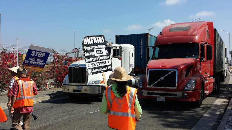 Port truckers resume strikes due to alleged wage theft