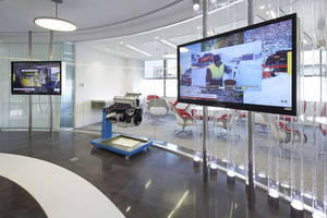 The customer reception area at the Shanghai facility.