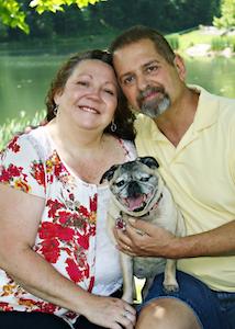 David Adkins and his wife, Shena