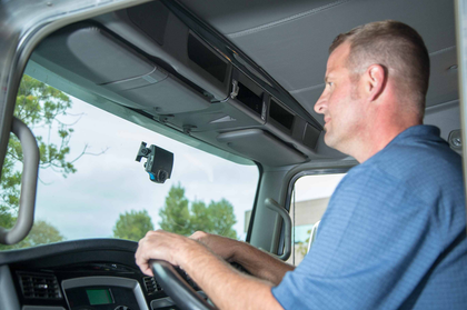 Most truck cameras are road-facing, installed by fleets or owner-operators. Some fleets install dual technology, adding a lens trained on the driver.