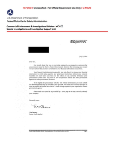 FOUO SIU 071114-01 Equifax Fraud Alert Bulletin