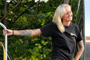 Emily Weymouth hauls for Dennison Lubricants in Massachusetts.