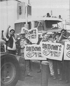 "A.R. Fairman: What a sad day for trucking. I'm the guy (A.R. ""Bob"" Fairman) standing at the back in the photo, between the gentleman with his arm in the air and the other gentleman in the cowboy hat. That was in the 1960's and so long ago. Overdrive did a couple writeups about me over the years and was always a great supporter of the owner-operator and small transportation business. Thanks for all you did Mike!"