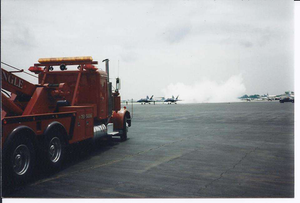 """""""When I drove for a towing company: Blue Angels going out for a practice at Willow Run airport,"""" noted Brian K. Fargher."""