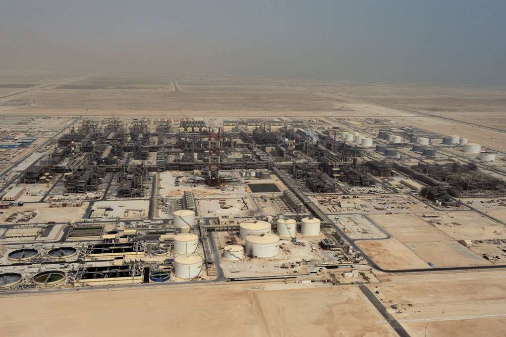 Shell's GTL plant in Ras Laffan Industrial City, Qatar.