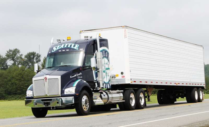 Seattle Mariners-themed Kenworth T880