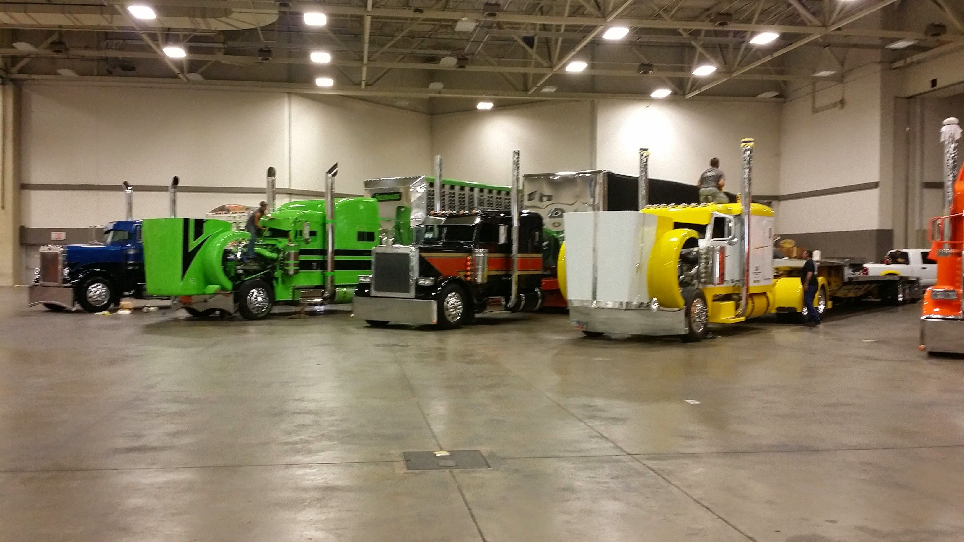 The trucks competing in the Limited-Mileage Combo category in the Pride & Polish National Championship.
