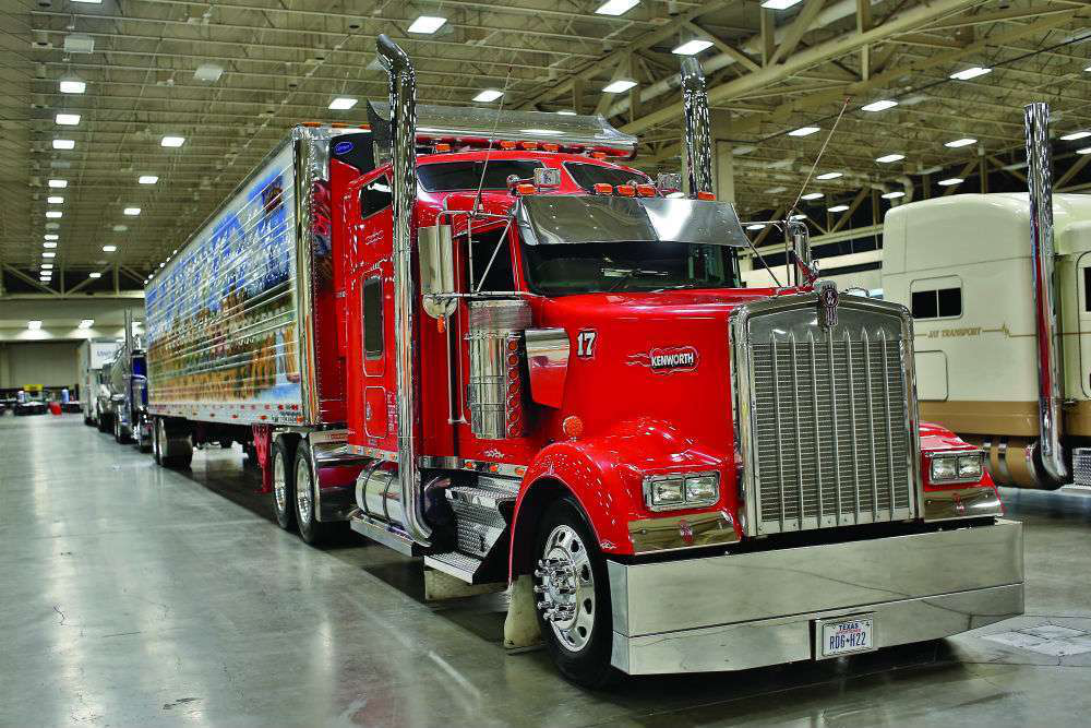 Dustin Pope's 2003 Kenworth W900L and Utility trailer