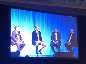 """""""Connected fleet"""" panelists at the CVOC: Jim Coffren is at the far right."""