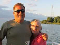 Jeff Clark, with his wife, Roxanne