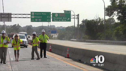 I-495 Christina River bridge reopens to traffic -- partially
