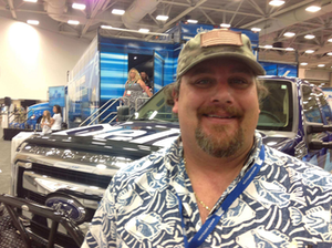 We caught up with Cody Blankenship at GATS with his wife and 4- and 6-year-old daughters at the Delo booth.