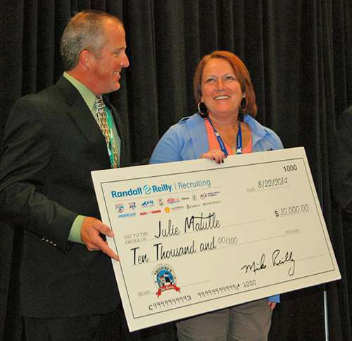 Julie Matulle named Top Rookie at Great American Trucking Show