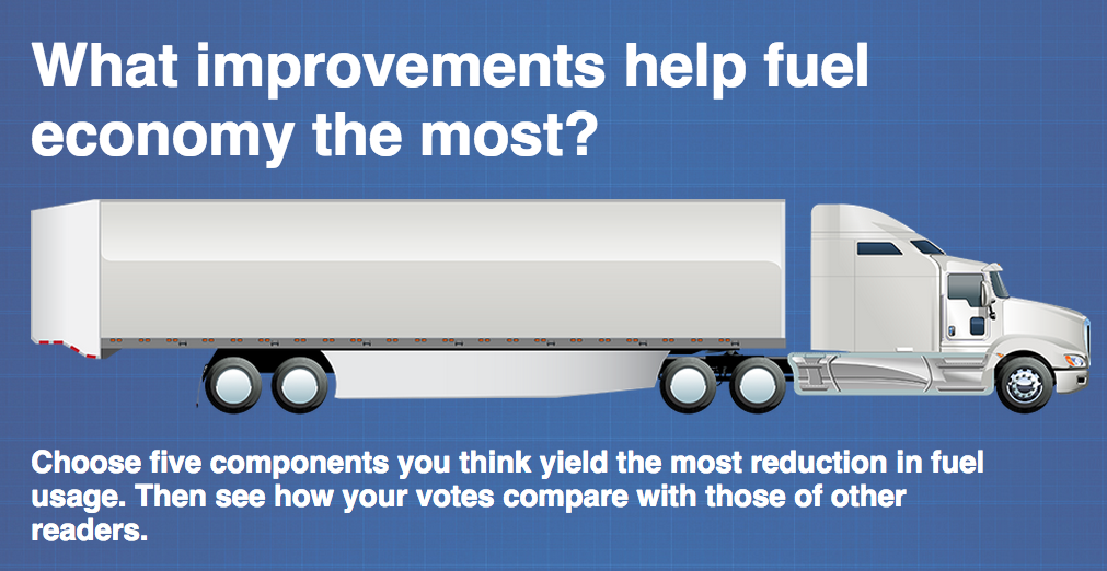 What's the best fuel-saving equipment? Last chance to tell us this weekend