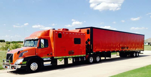 """The Sampsons note they ordered the truck via the GATR Truck Center in Des Moines, Iowa, near the beginning of this year, collaborating then with ARI in Northern Indiana to build the sleeper. The """"Dark Persimmon Metallic and Black Sable"""" paint from the factory was matched after the fact on the boxes and fenders. The trailer paint work was done by Keith's Collision in Justin, Texas, to match."""