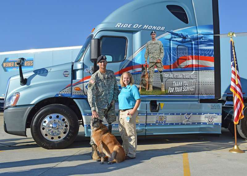Werner unveils latest military-themed truck