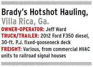 Brady's Hotshot Hauling specs