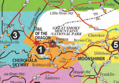 The Dragon Gets Truck Restrictions In Tenn Overdrive Owner - Us 129 the dragon map