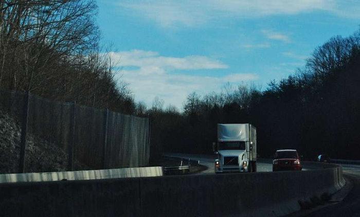 truck in highway scene