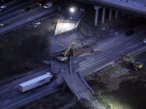 I-75 South, following bridge collapse in Cincinnati, reopens ahead of schedule