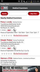 """The ability to search for and review medical examiners on the National Registry has also been a function of the """"medical examiners"""" portion of the Trucker Tools app since launch of the registry last year. You can download the app via this link."""