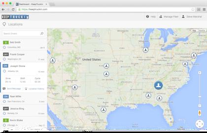 KeepTruckin enables GPS location