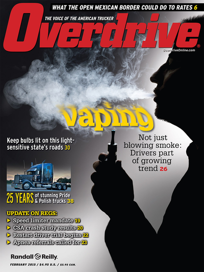 Overdrive explored use of electronic smoking machines and their use among truck operators in an in-depth report last year. Click here or the image above to see the report.