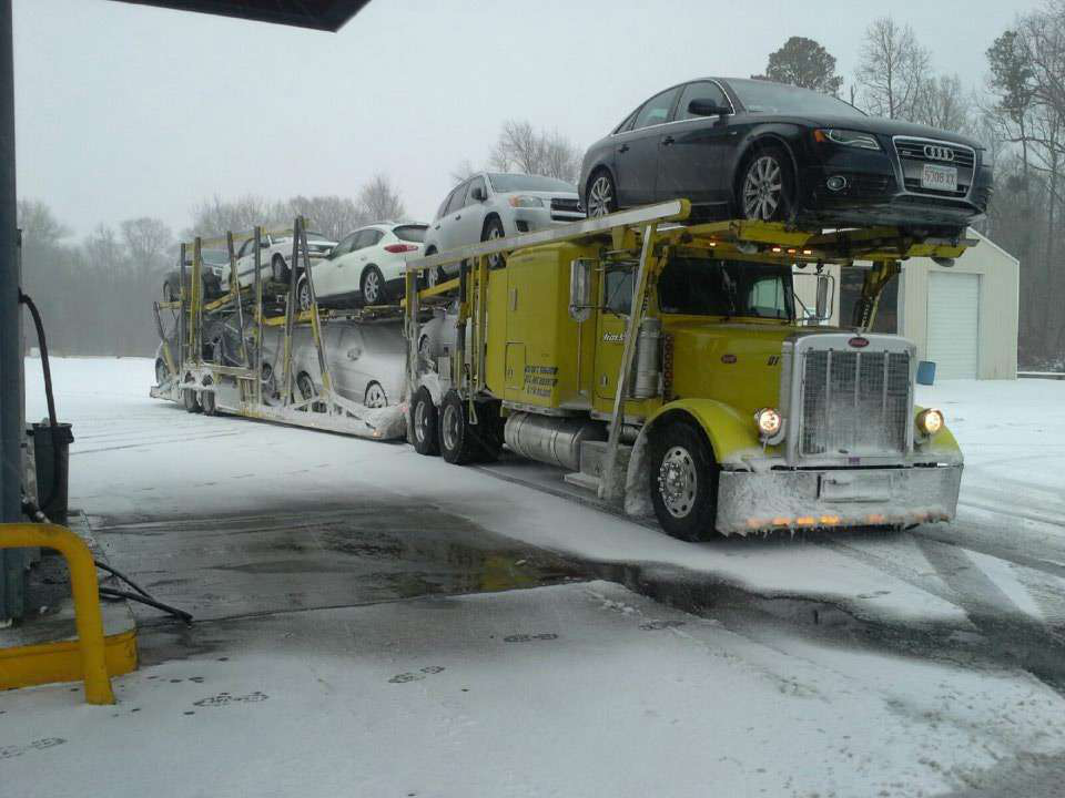 Image result for auto hauler in the snow