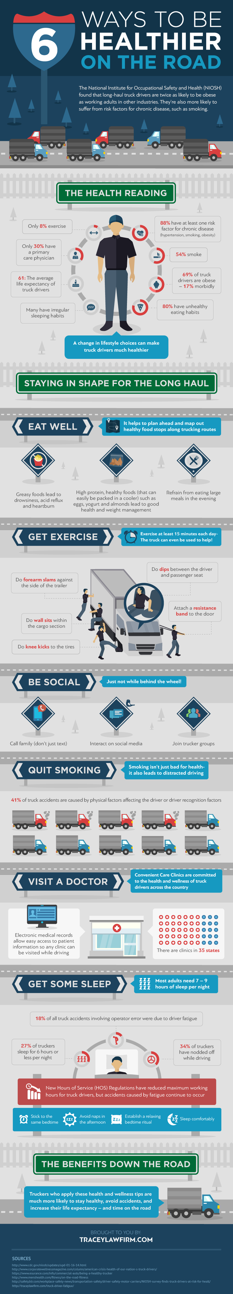 Infographic: 6 ways truckers can stay healthier on the road