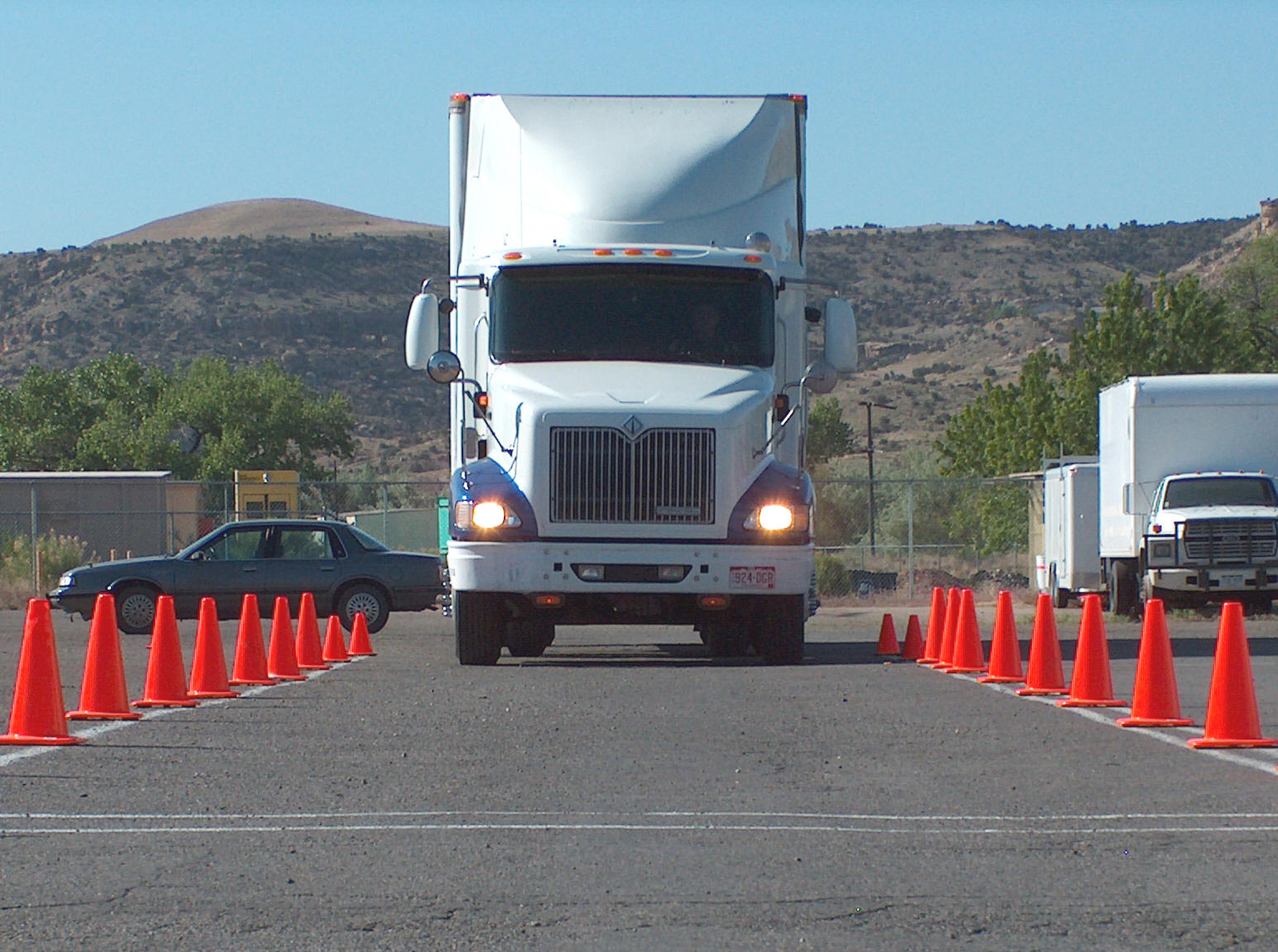 driver training cones