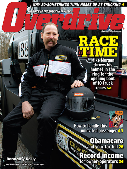"""While new sponsors in addition to Winrock Truck Parts & Equipment have not materialized for ChampTruck racer Mike Morgan since we featured the Mack of Nashville tech on the March cover, Morgan says individual independent truckers have in fact stepped up. """"Some decent contributions here and there from independent truck drivers,"""" he says, are encouraging. He really appreciates all the support. He says he thinks truckers see what he's doing as of a piece with the do-it-yourself ethos of the independent: """"The independents are really starting to appreciate what we're doing with this trying to make it happen."""" Watch for him walking the show floor at Mid-American in Louisville if you're there this week. """"We're coming in on Friday,"""" he says."""