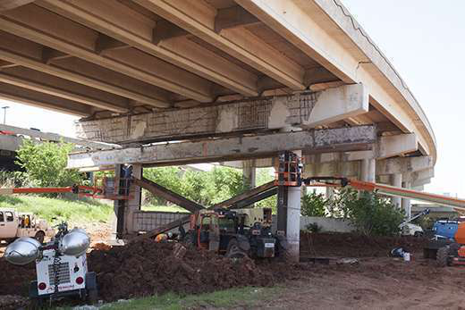 I 44 bridge work in okc reveals further damage for Steel piers for house