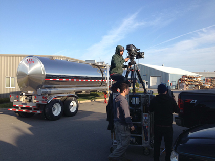 Brenner tank trailer on the small screen