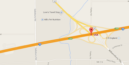 I-70 WB in Indiana down to one lane Wed., Sat.