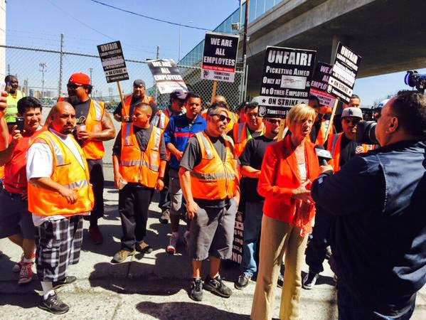 California truckers continue strike over misclassification claims