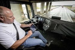 Daimler's autonomous tractor-trailer, a Mercedes Actros