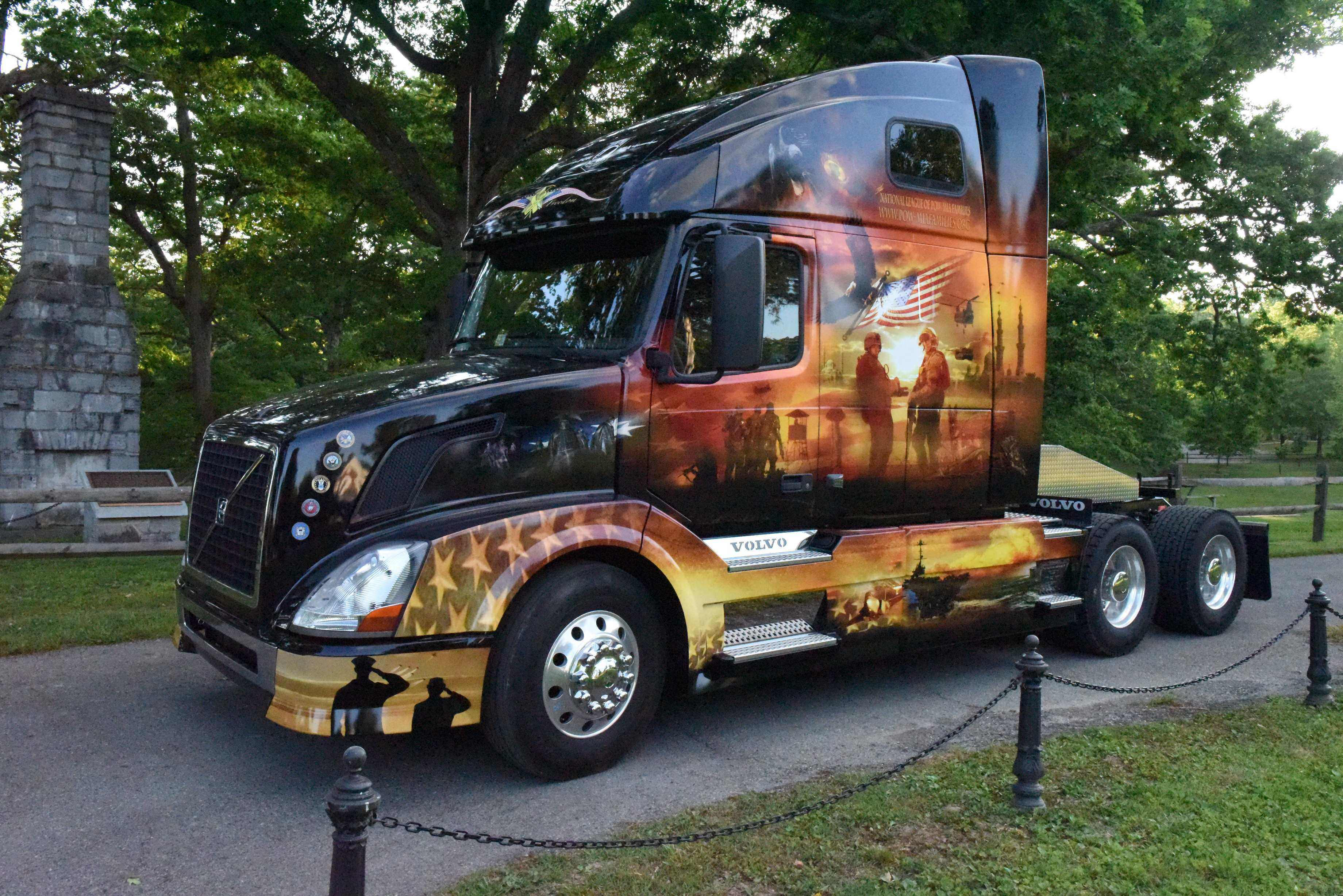 Volvo Mack Unveil Ride For Freedom Military Tribute