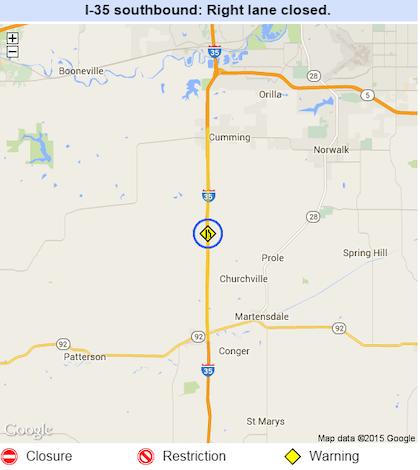 Iowa I-35 lane closures through June 2, more highway haps