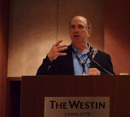 """I'm not supposed to talk about my personal preference and not talk about my rpreference for ELDS – at the time ELDS become standard quipment on all trucks, we will be a safer industry – taking the chairman's prerogative, and move off script. Keith Tuttle noted """"Light at the end of the tuttle might be a fully loaded freight train. --Keith Tuttle, current TCA chairman and head of the Motor Carrier Service fleet"""