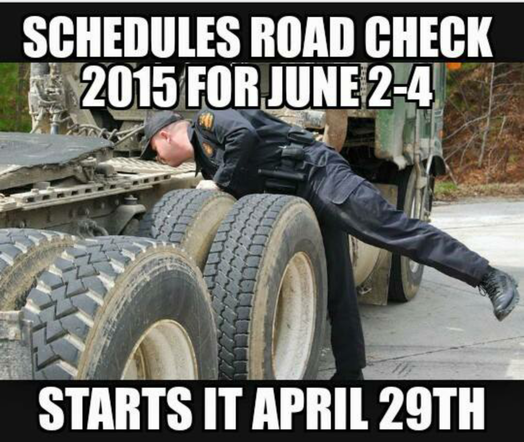 Roadcheck meme keeping up with the upkeep overdrive owner operators trucking