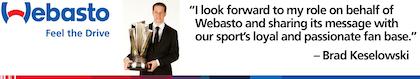 Webasto, NASCAR racer ink partnership