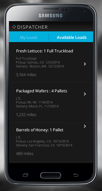 The Dispatcher app: More book-now freight options via smartphone