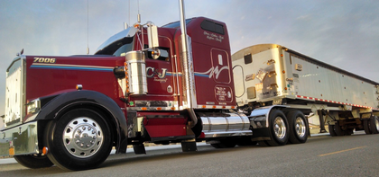 Page Trucking's owner-operators and its custom frameless-dump trailer spec