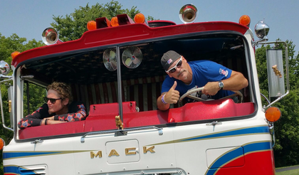 The resurrection of Evel Knievel's 1970s Mack haul rig