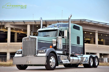 One of the benefits of glider vehicles is purchasing a more highly spec'd vehicle, such as this Kenworth W900 Icon glider produced by Fitzgerald, at a price cheaper than a comparable new truck.