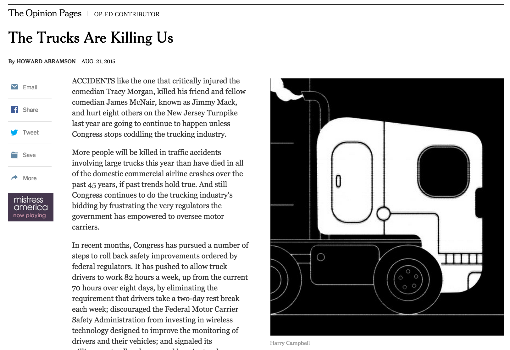 Trucks are killing us
