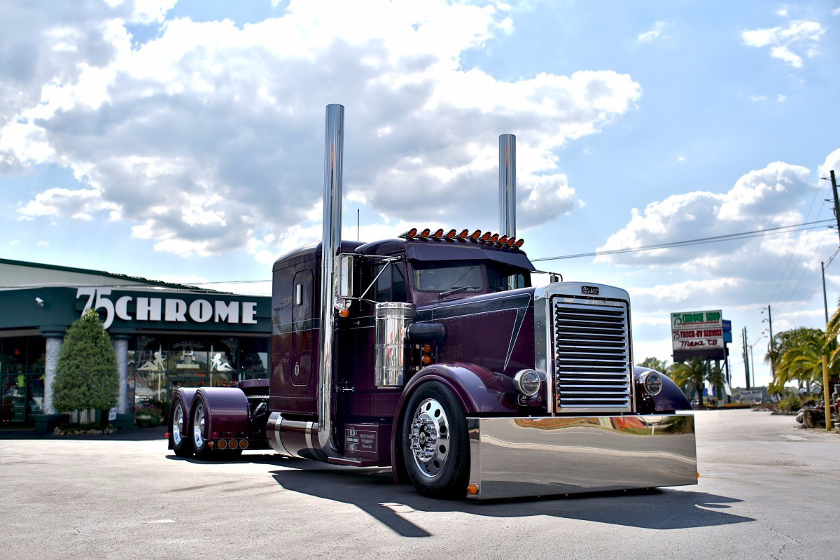 Bob Harley qualified to compete in the Pride & Polish National Championship by winning Best of Show, Builders Class Bobtail with his 1972 Peterbilt 358A at the 75 Chrome Shop Show in April.