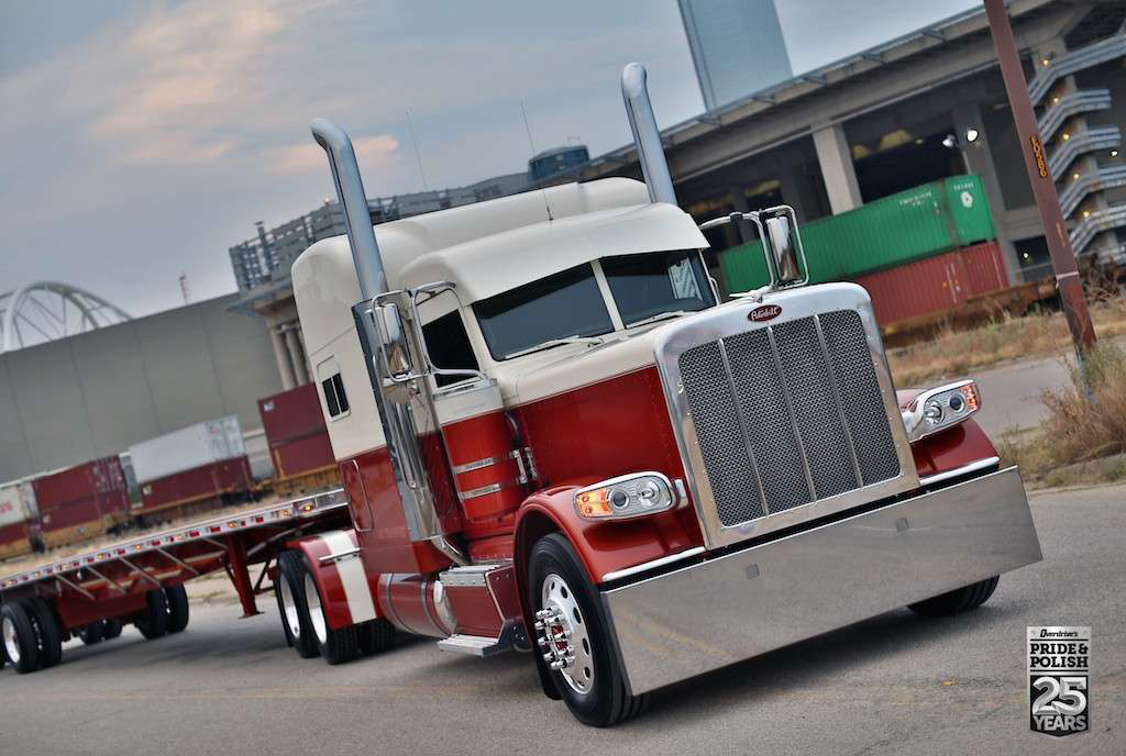 Jordan Jay's 2015 Peterbilt 389 and Western flatbed won the Pride & Polish championship in the Working Combo category.