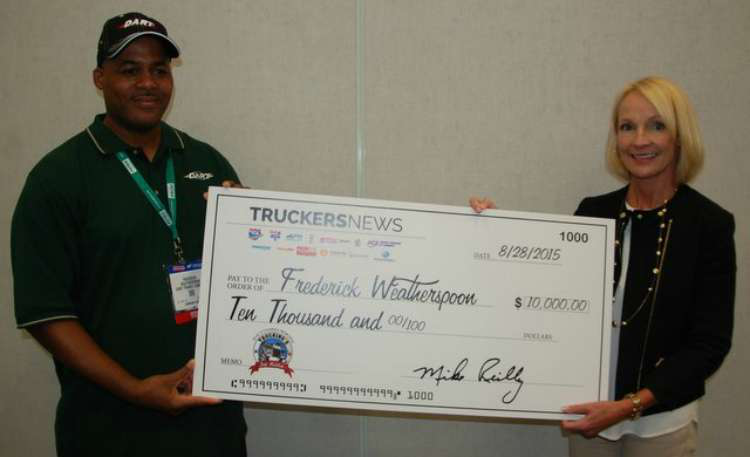 51-year-old Dart driver, military vet named Trucking's Top Rookie